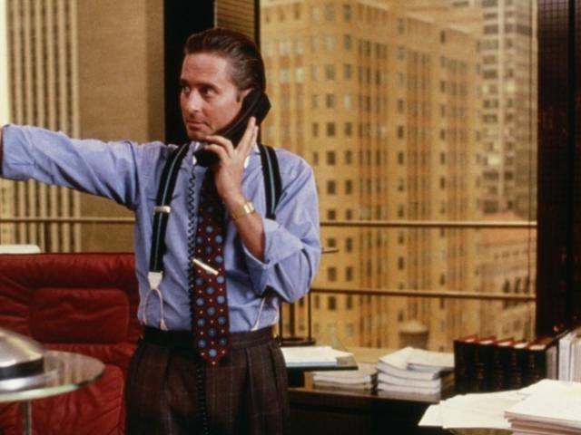 Gordon Gekko, dans le film Wall Street