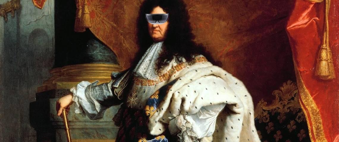 Louis XIV en Hololens