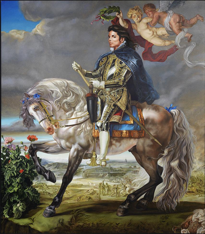 Michael Jackson sur un cheval