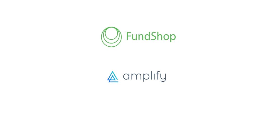 Logos d'Amplify et Fundshop