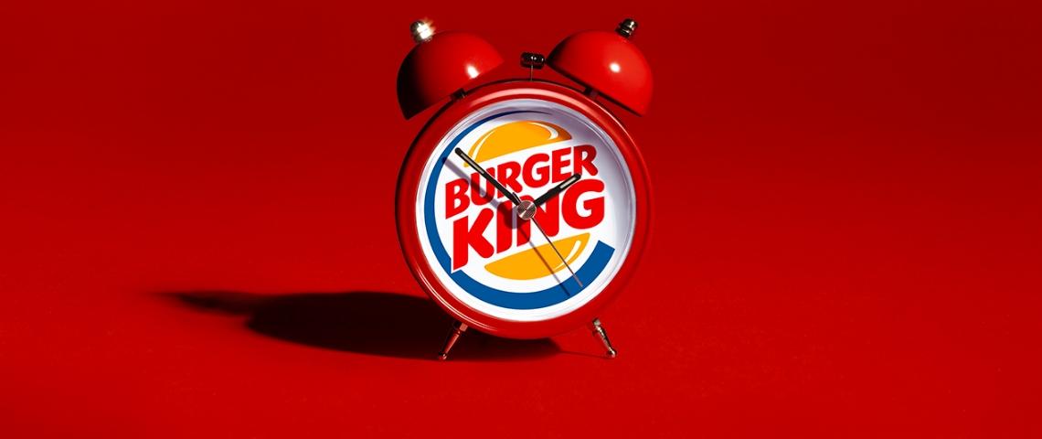 Une réveil Burger King