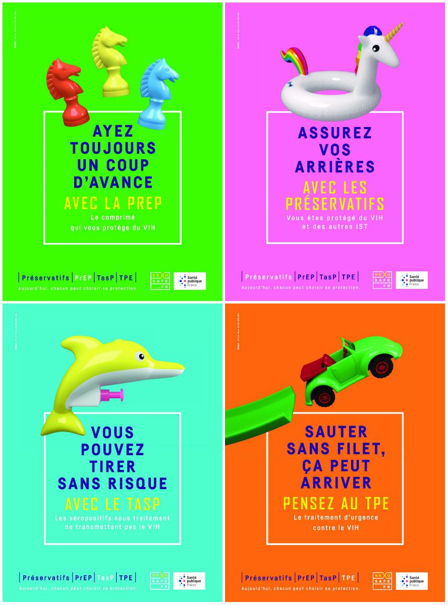 Affiches campagne d'affichage prévention relation sexuelle entre hommes