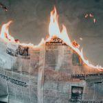 Journal qui brûle