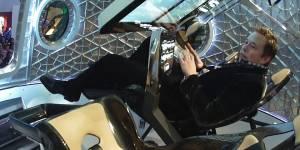 Elon Musk dans sa fusée