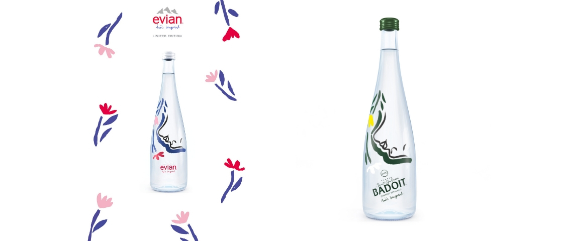Bouteille Evian et Badoit 2018