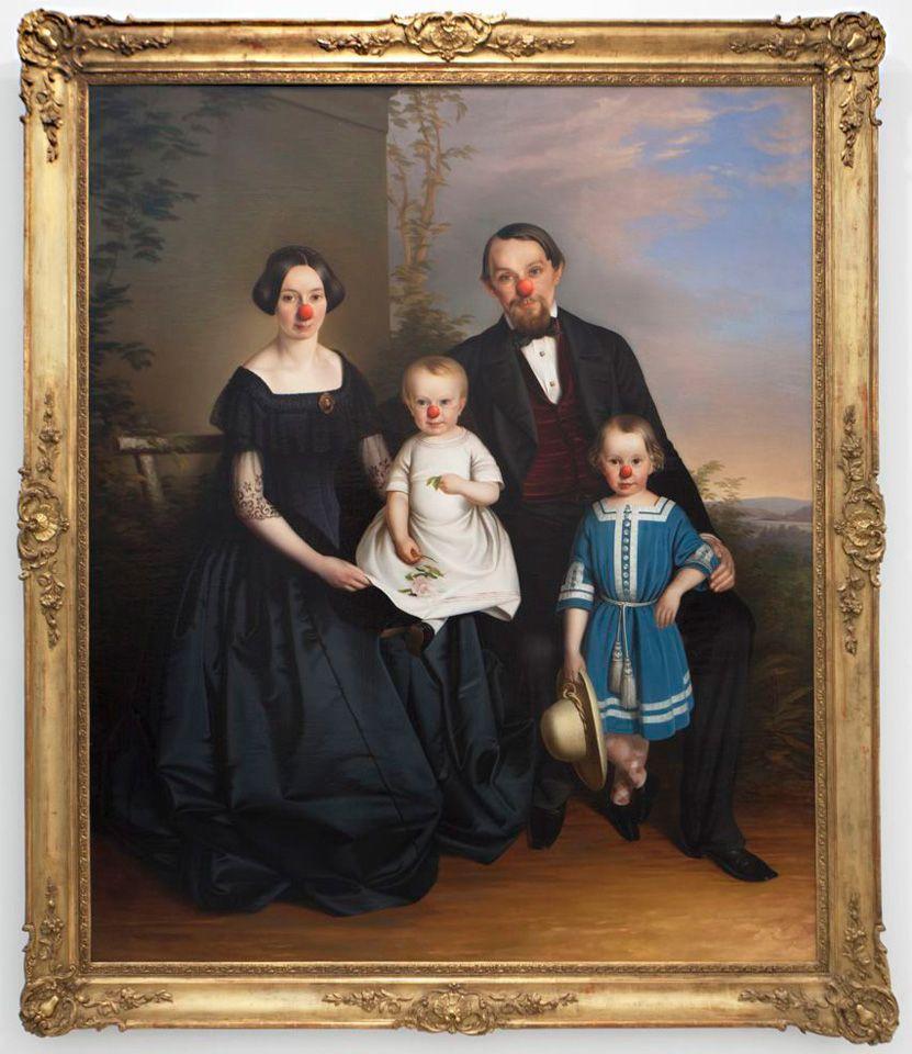 portrait de famille détourné