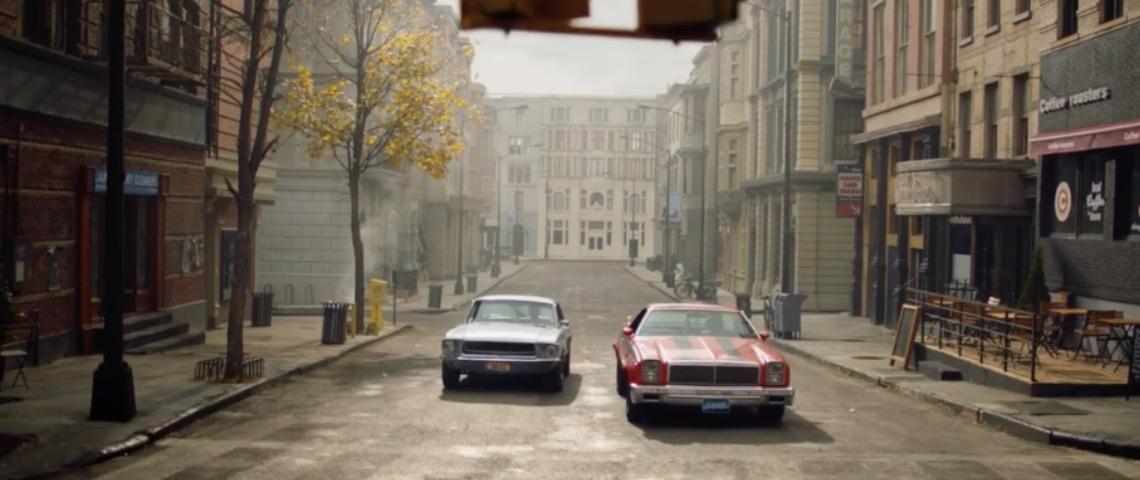 Deux voitures dans la rue