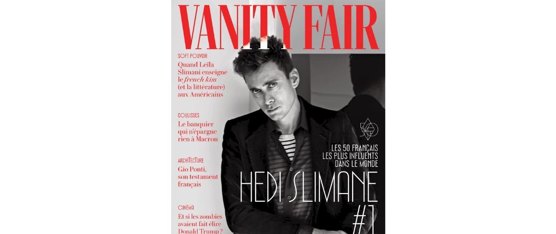 Hedi Slimane en couverture de Vanity Fair