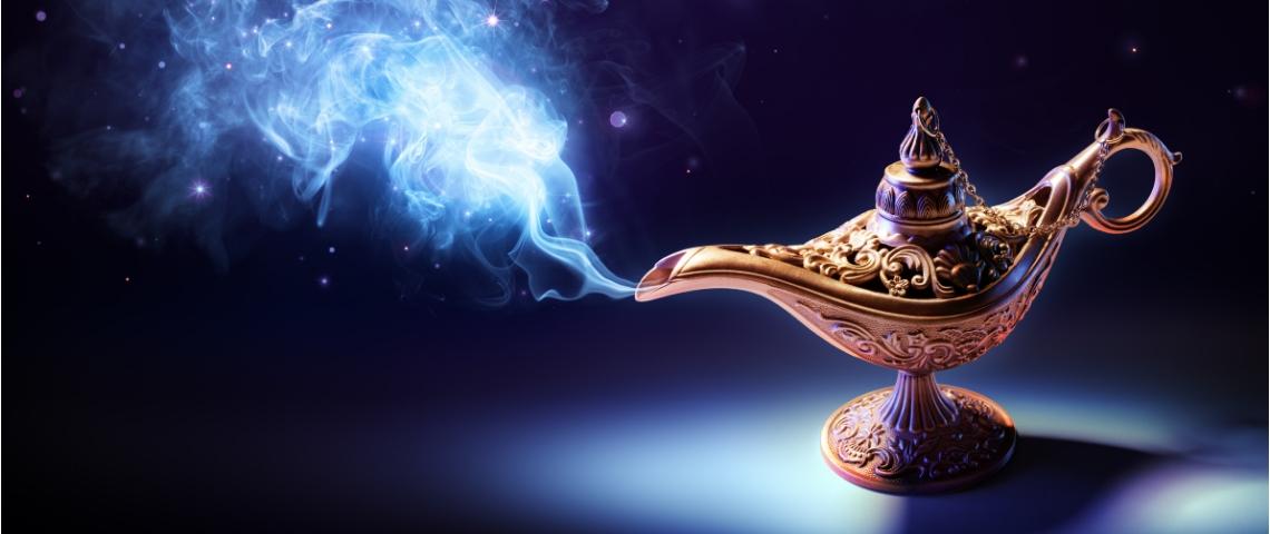 une lampe à huile magique