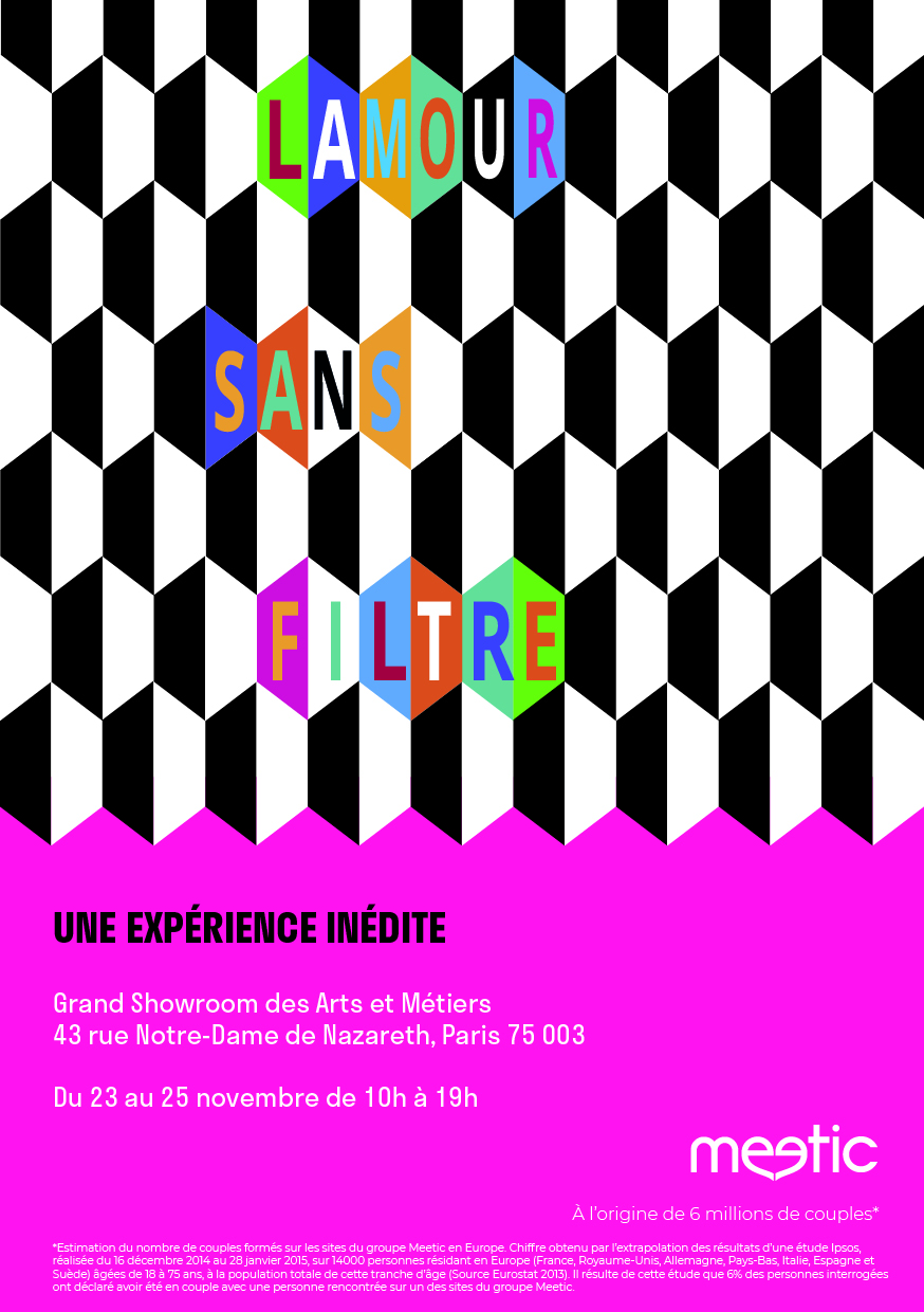 Affiche expo meetic