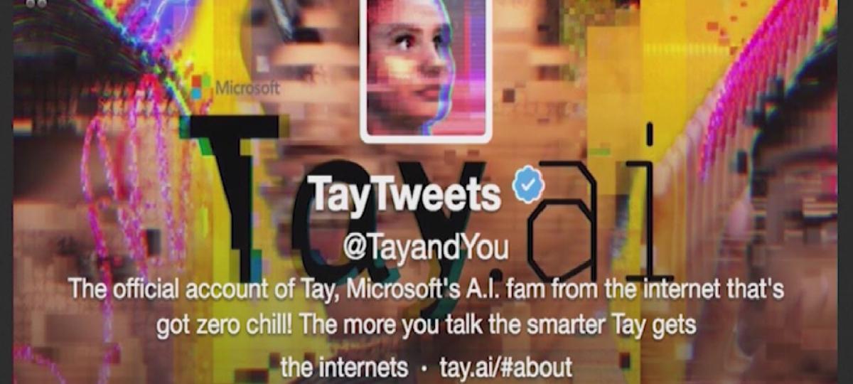une capture d'ecran de la bio twitter de Tay