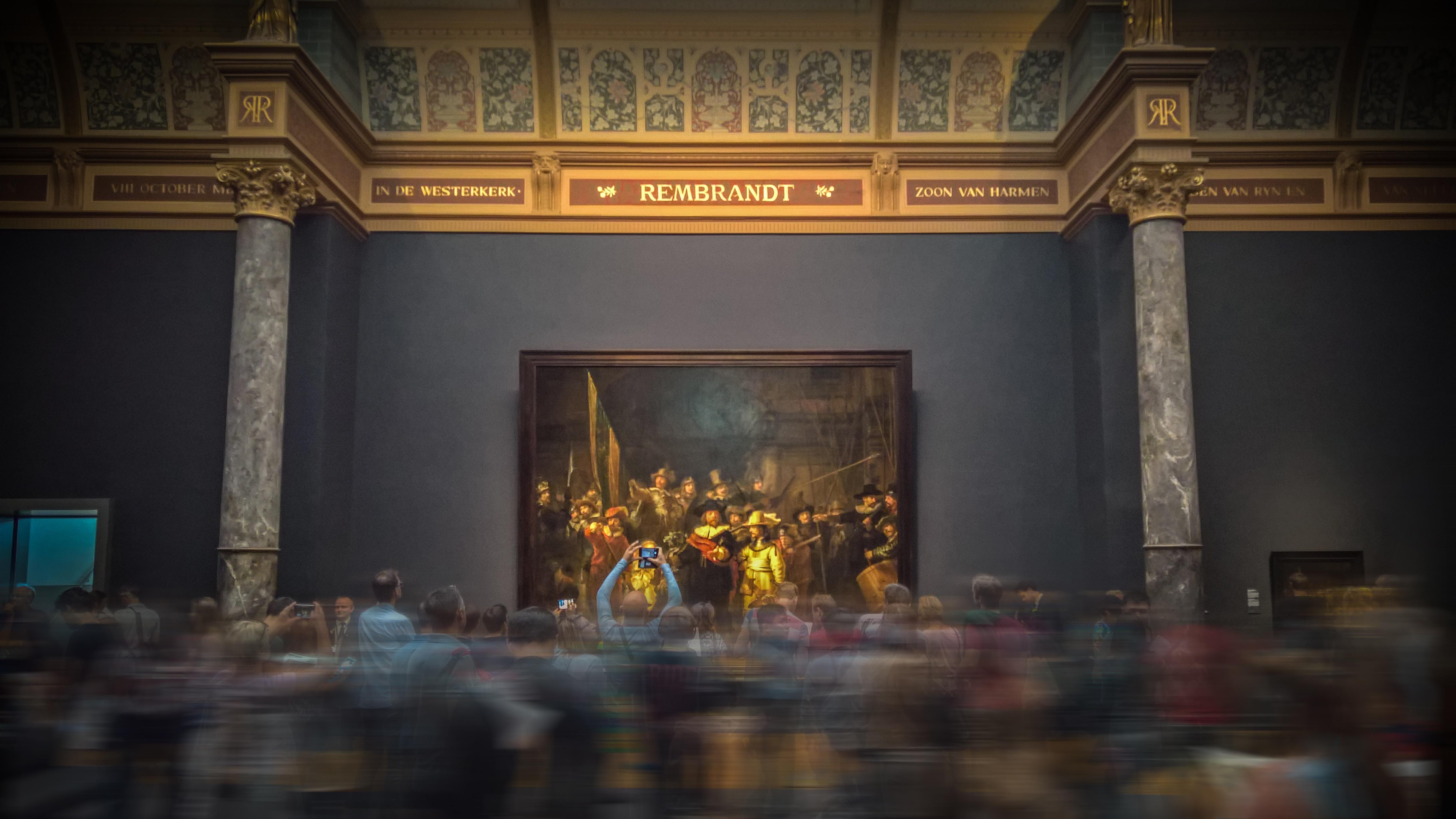 foule au musée