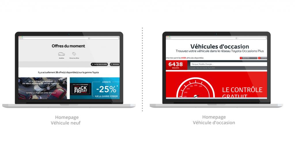 deux image de home page de site web