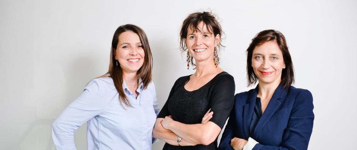 élanie Bouilhac, Lisa Prunel-Laplace et Sandrine Druelle