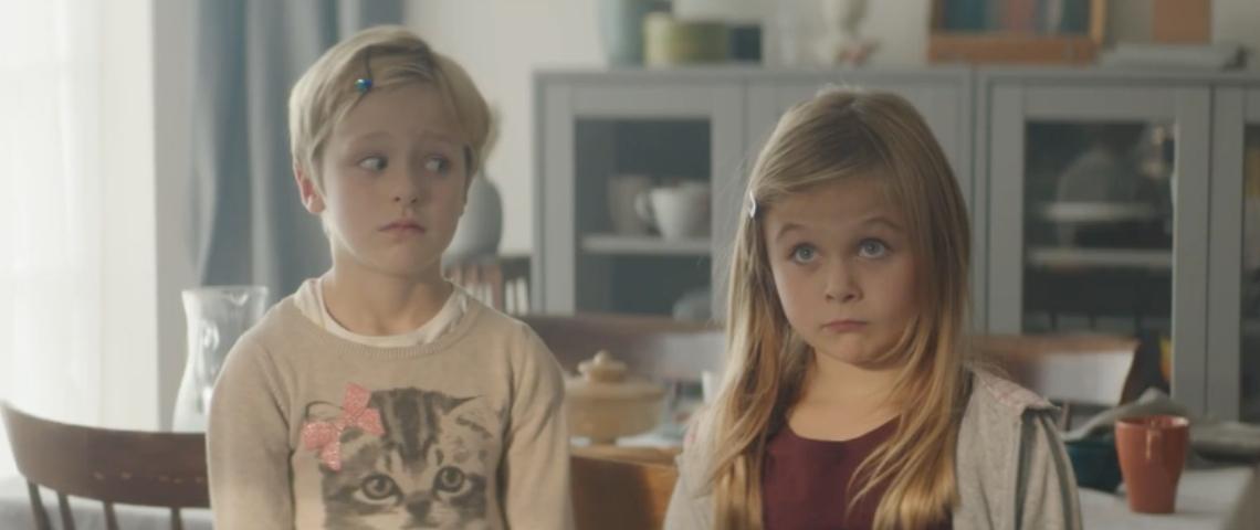 Deux enfants blonds