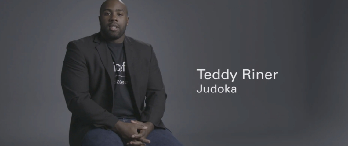 Teddy Riner pour UNICEF