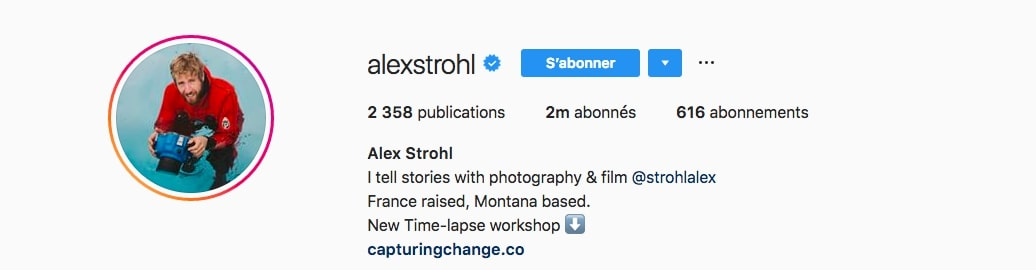 Biographie d'Alex Strohl