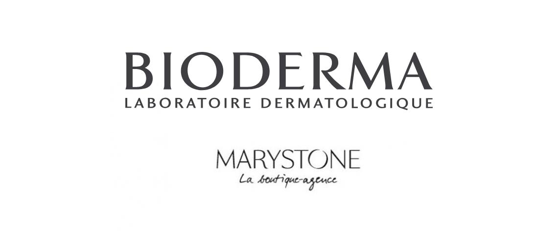 Logos Bioderma et Marystone