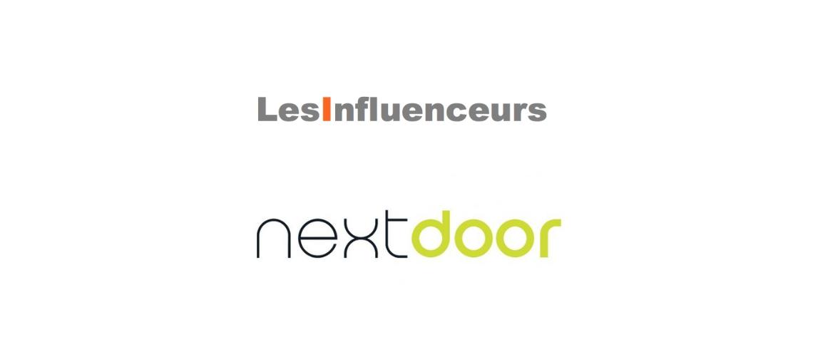 Logos de Nextdoor et Les Influenceurs