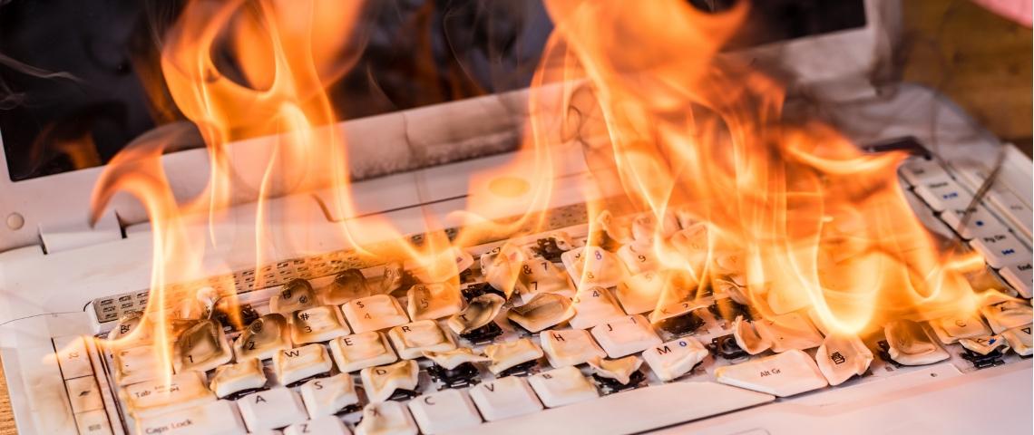 Un clavier qui brule