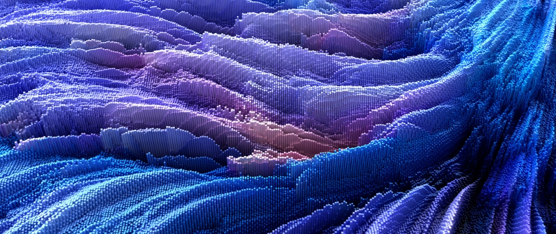 data visualisation en vagues de pixels