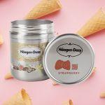 Un packaging zéro déchet de Häagen-Dazs à la fraise