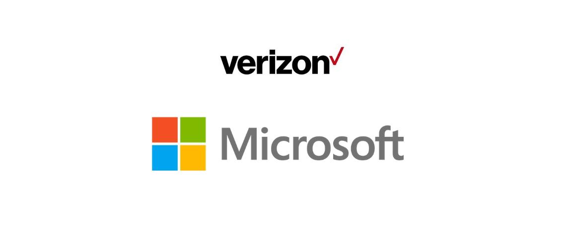 Logos de Verizon et Microsoft