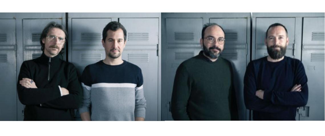 Frédérick Lung, Philippe Pinel, Yvan Hiot et Adrien Plouard