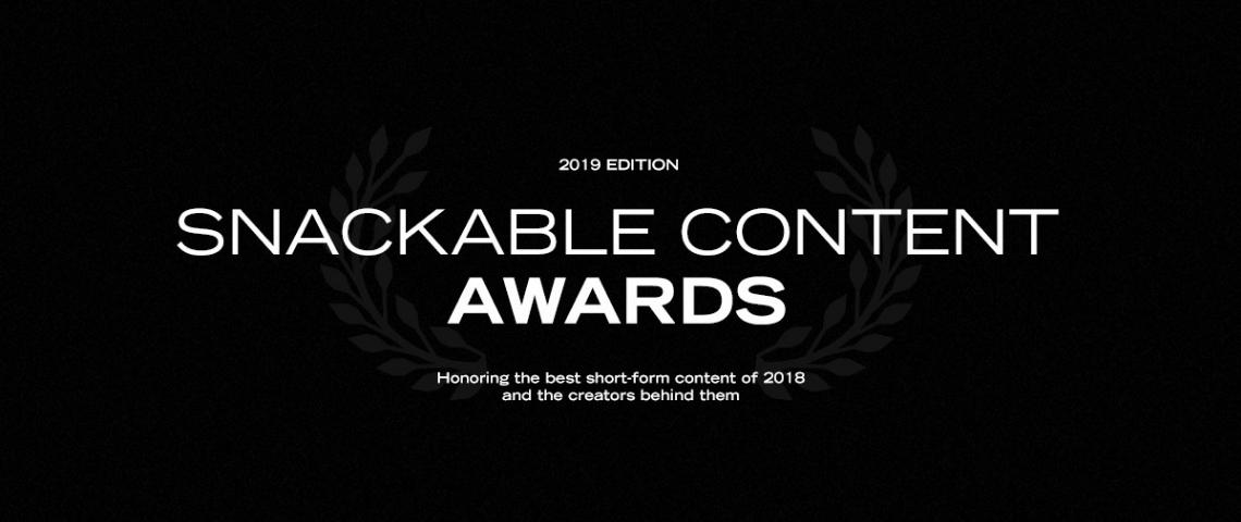 Visuel Snackable Content Awards 2019