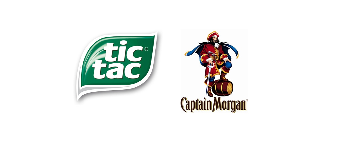 Logo Tic Tac et Captain Morgan