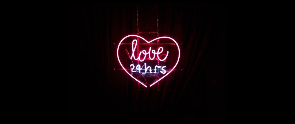 Un coeur en neon