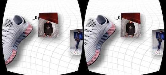 L'application Adidas en réalité augmentée