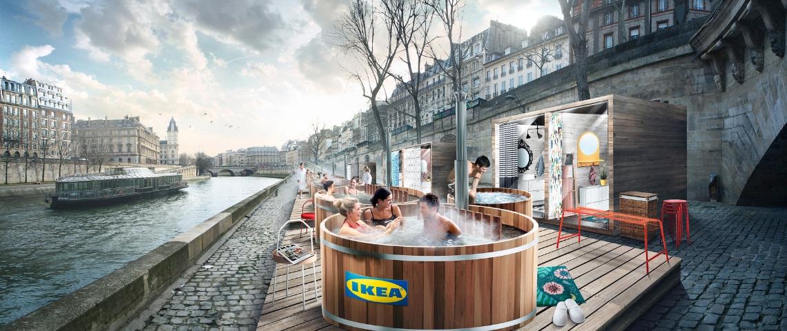Les Bains Ikea sur les Quais de Seine