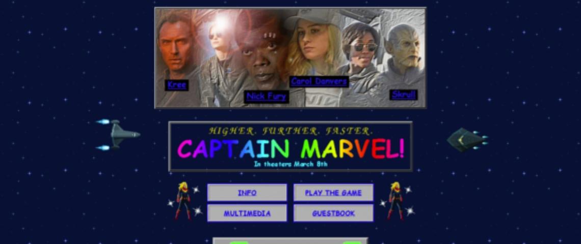 Le site Captain Marvel
