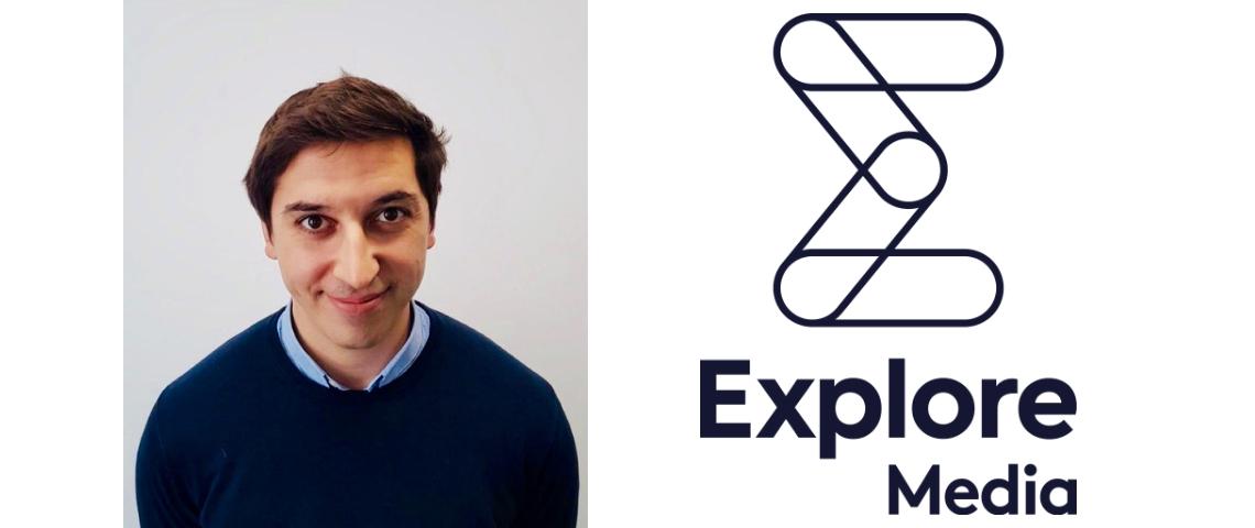 Charles Cournet et le logo d'Explore Media