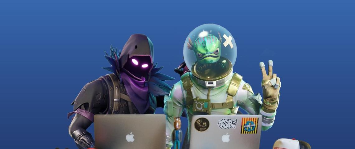 deux personnages du jeu Fortnite