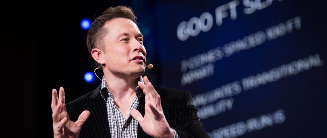 Elon Musk à l'occasion d'une conférence TED en 2013