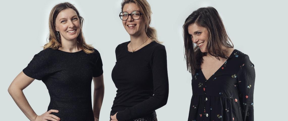 Juliette Damoisel, Agnès Petit et Marine Chapuis