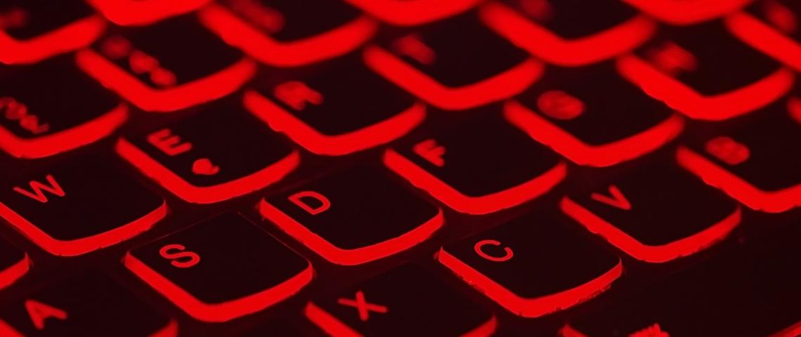 clavier illuminé en rouge