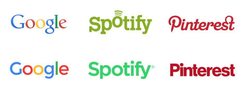 logos google spotify pinterest