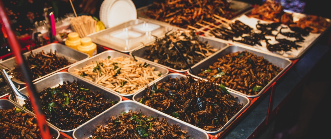 Des insectes sur un marché thailandais