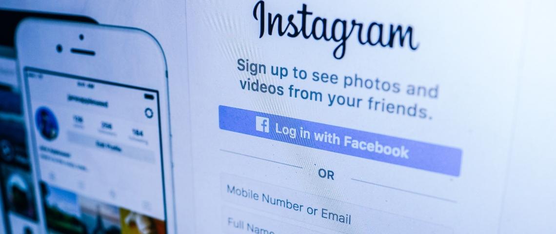 Page d'accueil d'Instagram