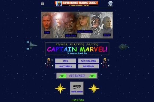 Site web de Captain Marvel