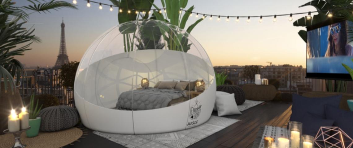 Une bulle transparente