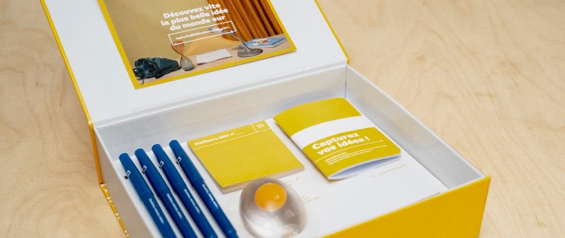 La box de brainstorming de l'agence rébellion