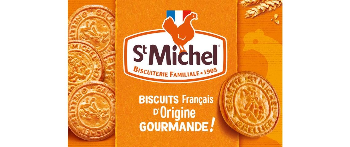 Nouveau packaging des galettes St Michel