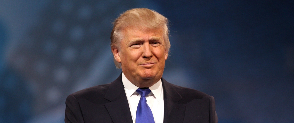 Donald Trump lors d'un speech de 2013