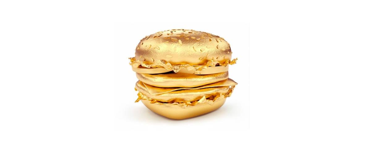 Un burger en or
