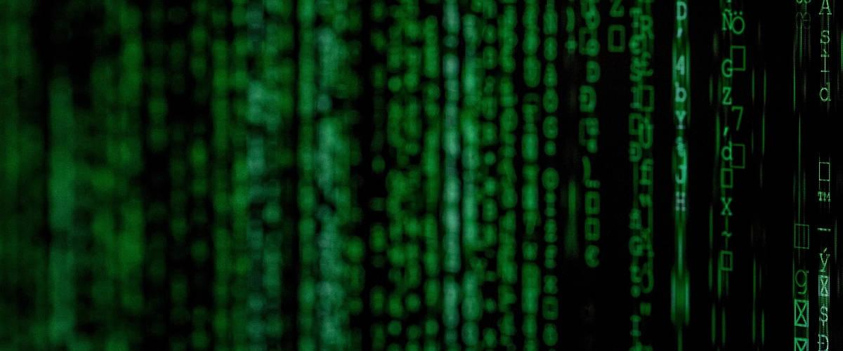 Des lignes de codes vertes