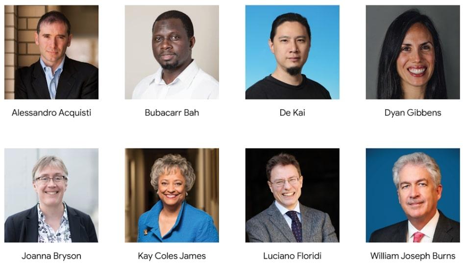 Les membres du comité d'éthique externe de Google